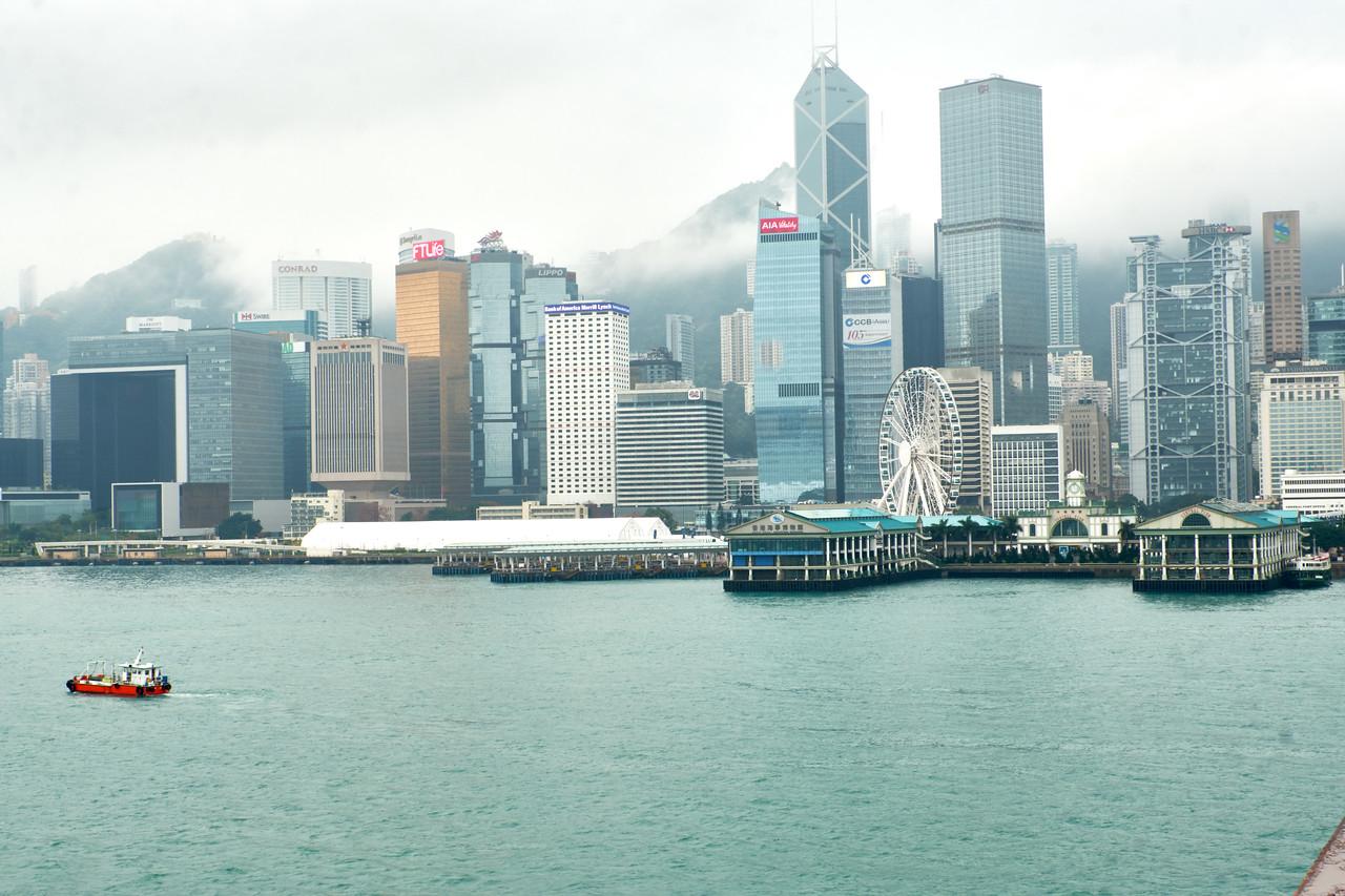 Sail into Hong Kong on a rainy Sunday afternoon.