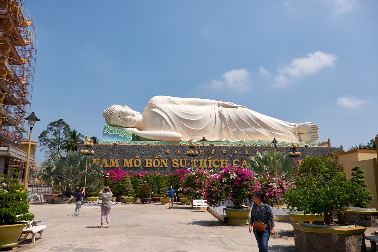The Reclining Buddha.
