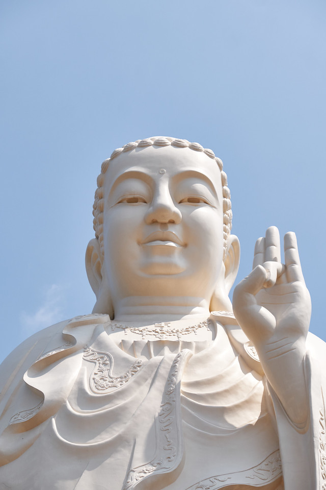 This hand gesture of the Buddha is suppose to bring the local people good luck.