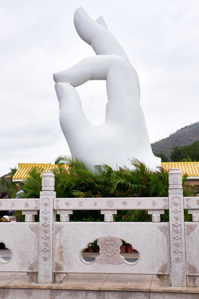 Side view of gesture of spiritual understanding.