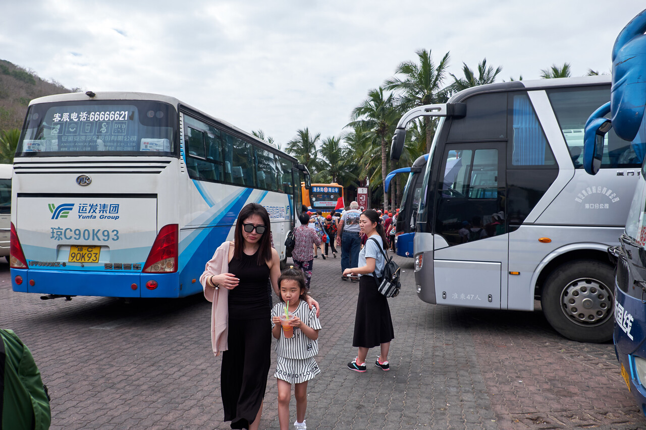 It seems this was a National Day of Prayer . This was only a fraction of the buses in the parking lot at Nanshon Cultural Resort.