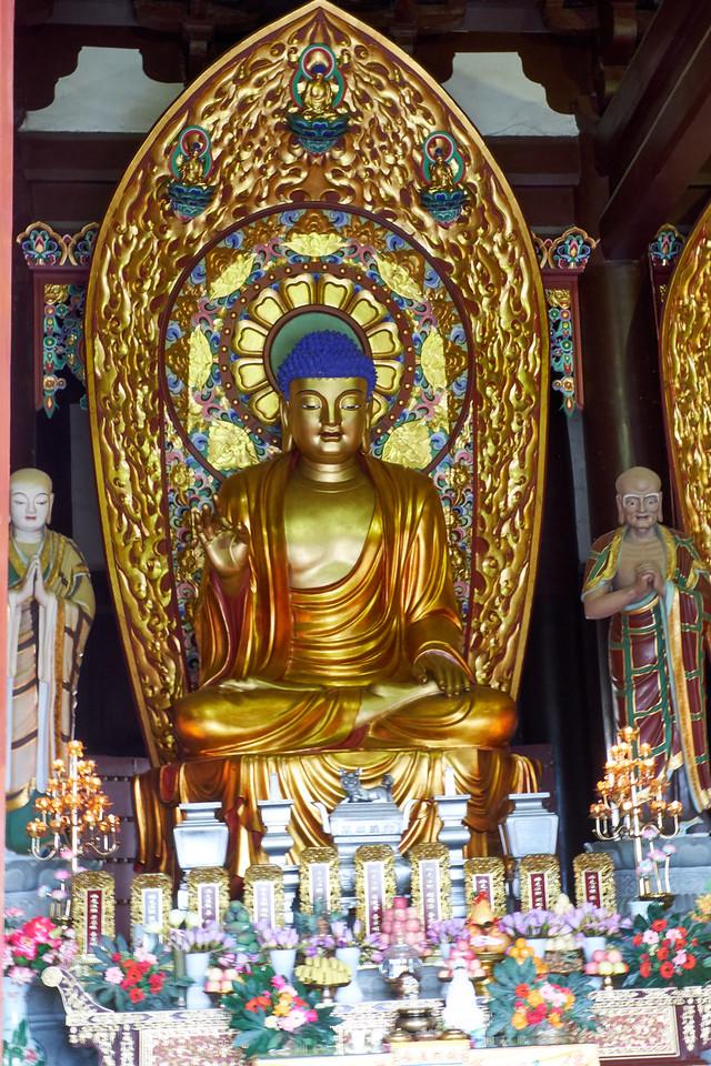 Closer look at an individual Buddha.