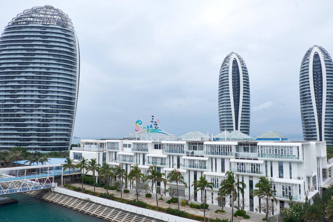 View of Sanya, China port from my veranda.
