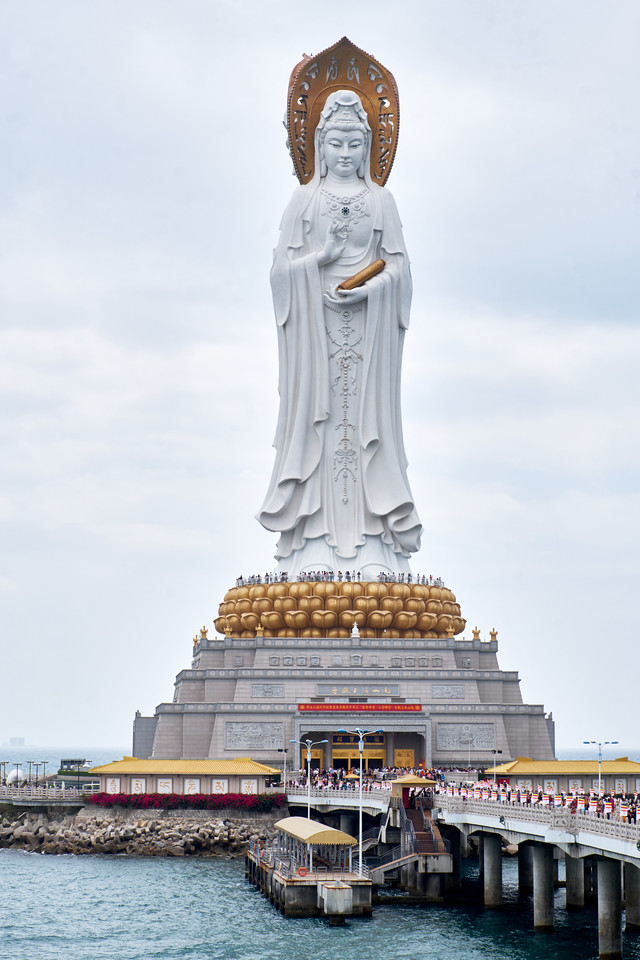 Guan Yin Statue is a three sided statue.