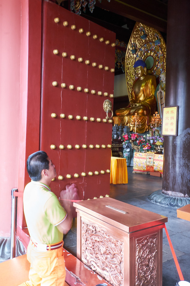 Active prayer main Nanshon Temple.