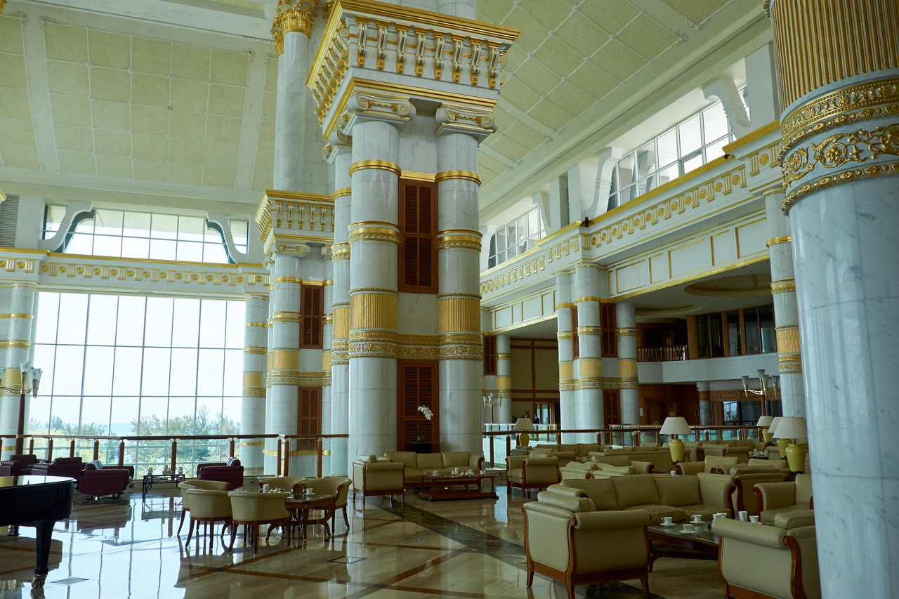 Part of Lobby of Empire Hotel and Country Club.