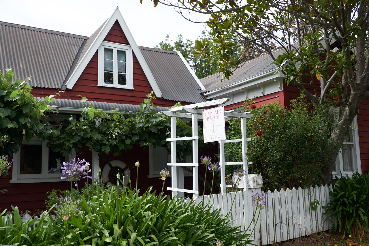 Captain Bruce Cottage. One of the original wooden cottages built in Akaroa.