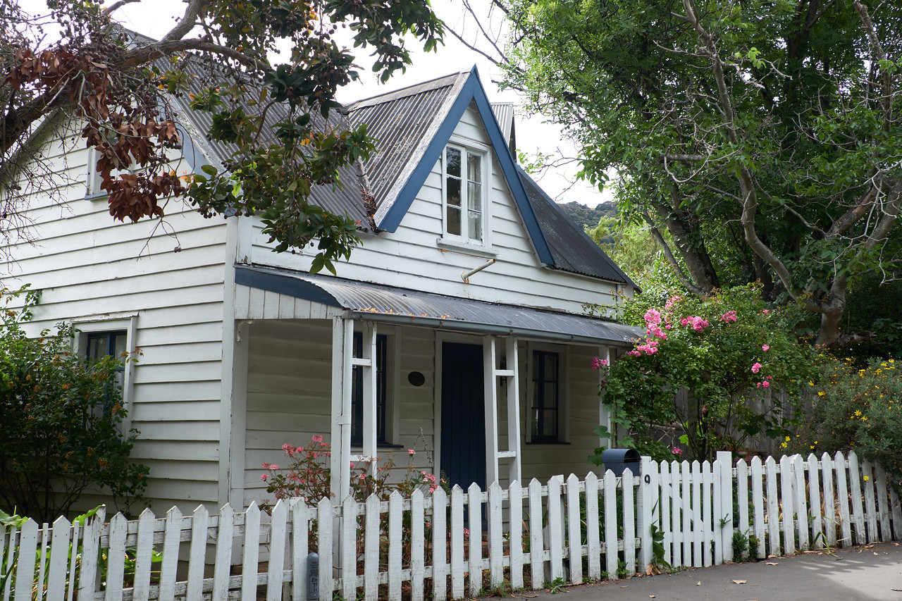 Another original wooden house near the port. These homes are rented out to vacationers.