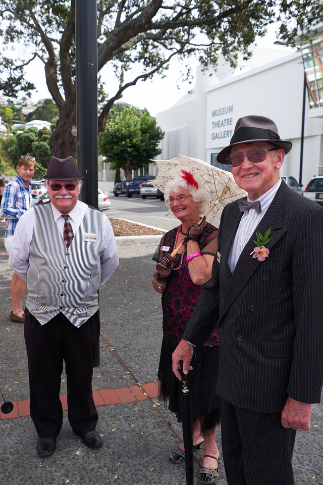 More locals. They were only too happy to have their picture taken. Art Deco is Napier's niche in tourism.
