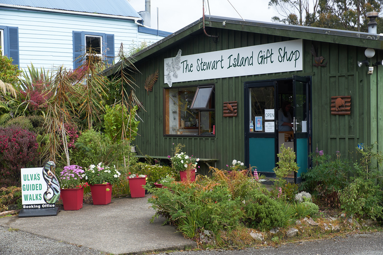 The gift shop on Stewart Island.