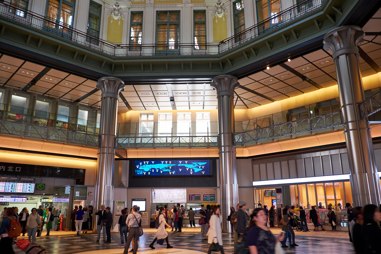 Interior of Tokyo Station.