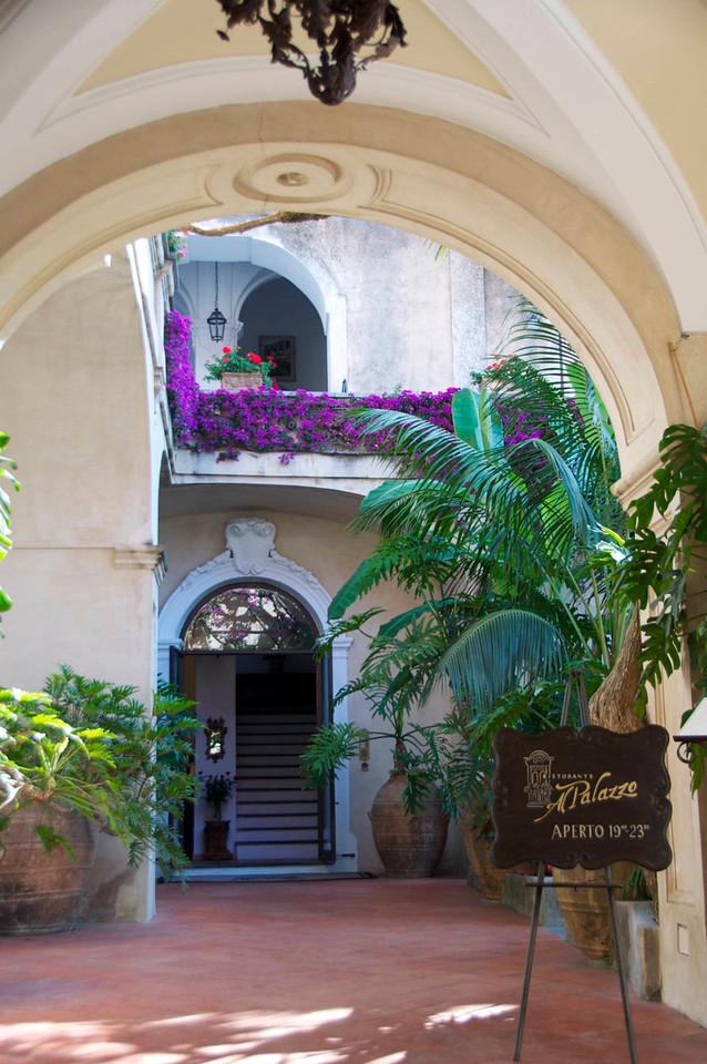 A Restaurant Courtyard in Positano