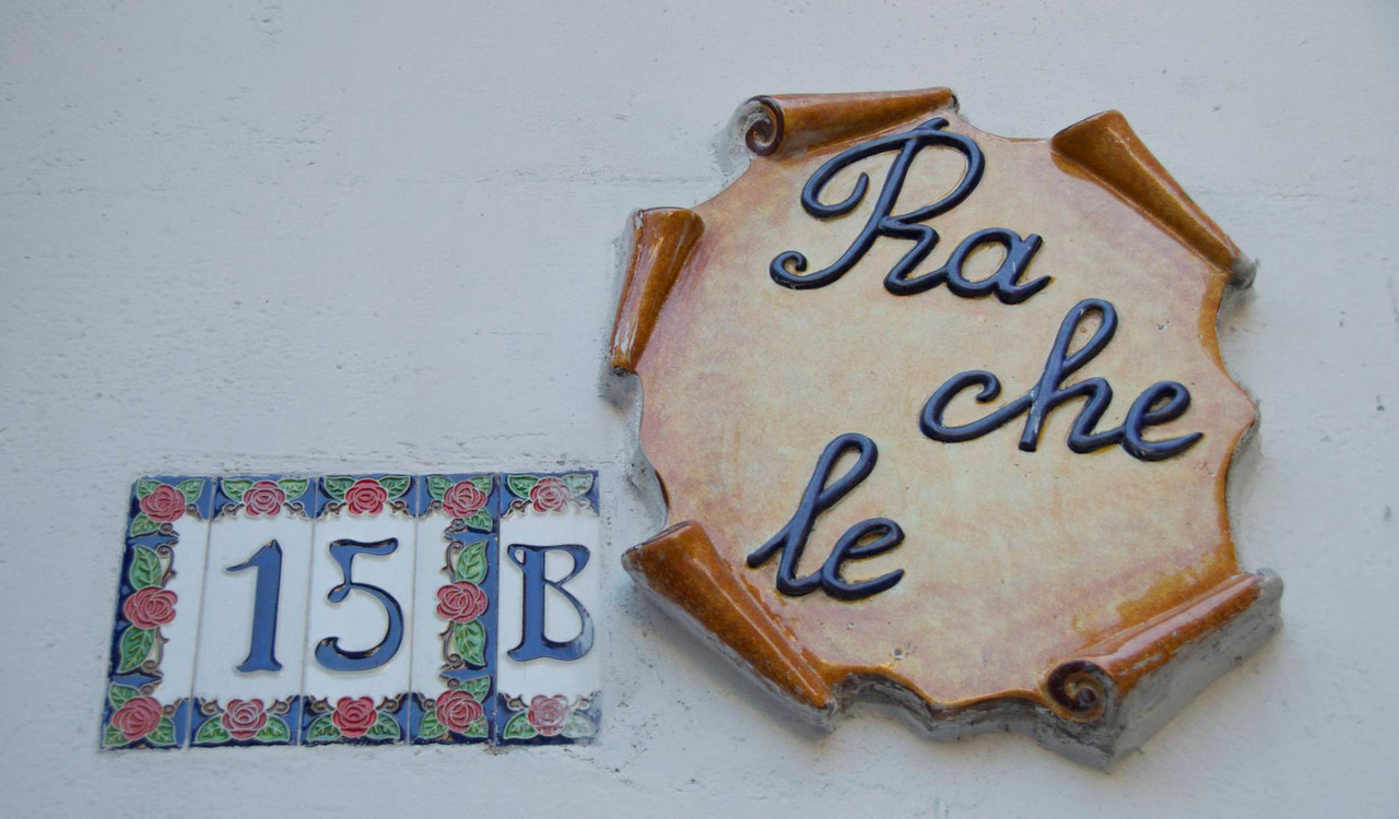 Shop Sign and Address in Positano