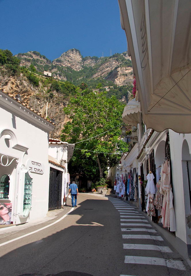 View Up The Mountain From Positano
