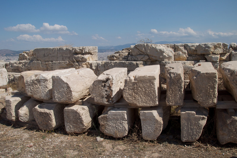Pieces of Marble Pieces Ready To Be Put in Place During Restoration
