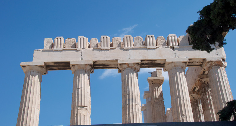 Top, Side of Parthenon