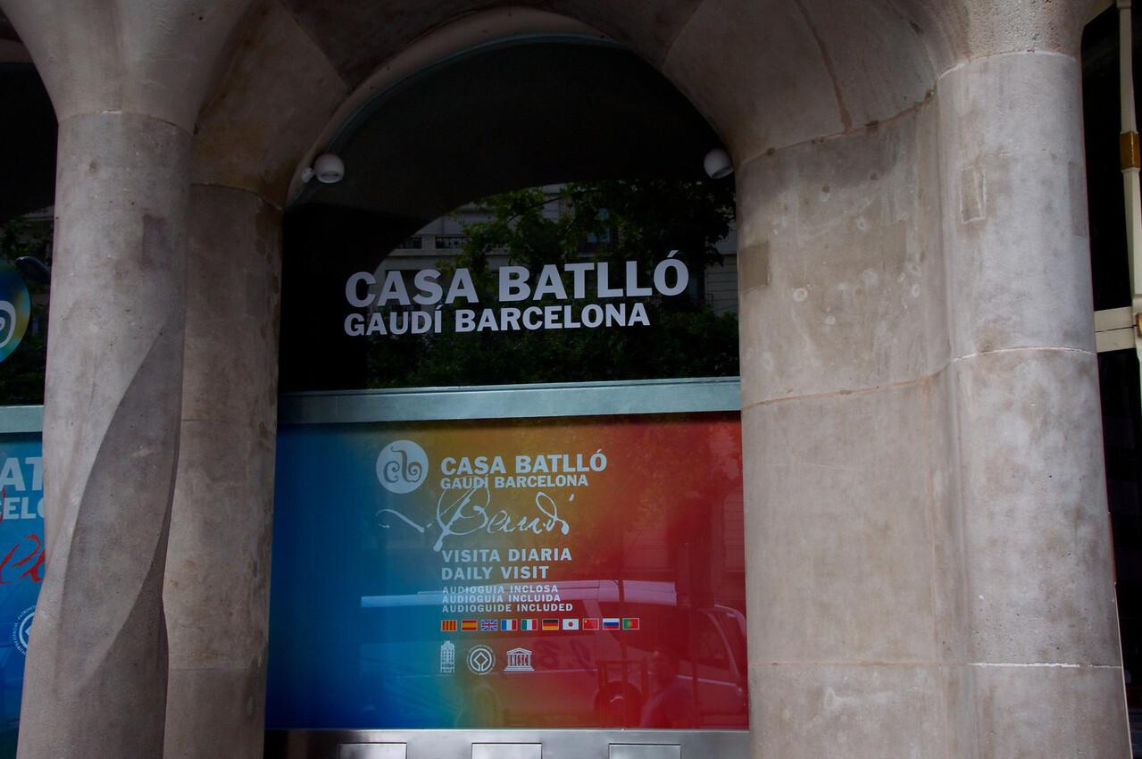 Entrance to Casa Batllo