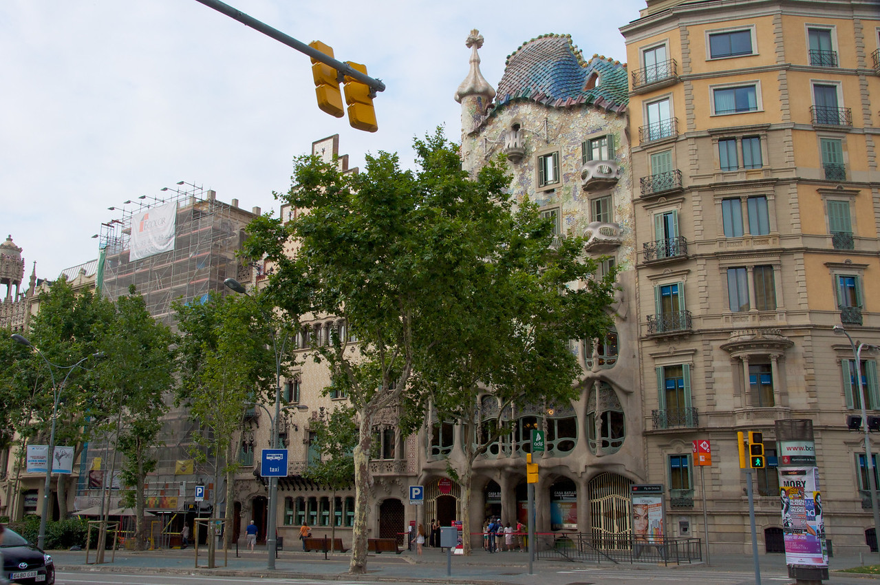 Casa Batllo Designed by Gaudi   Cross Also Represents St  George's Sword (St  George is Patron Saint of Catalonya)