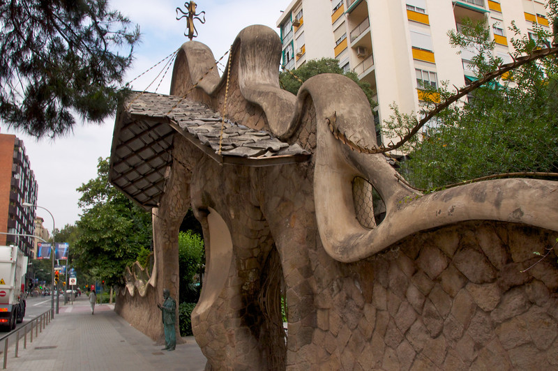 Entrance to Miralles Estate Designed by Gaudi