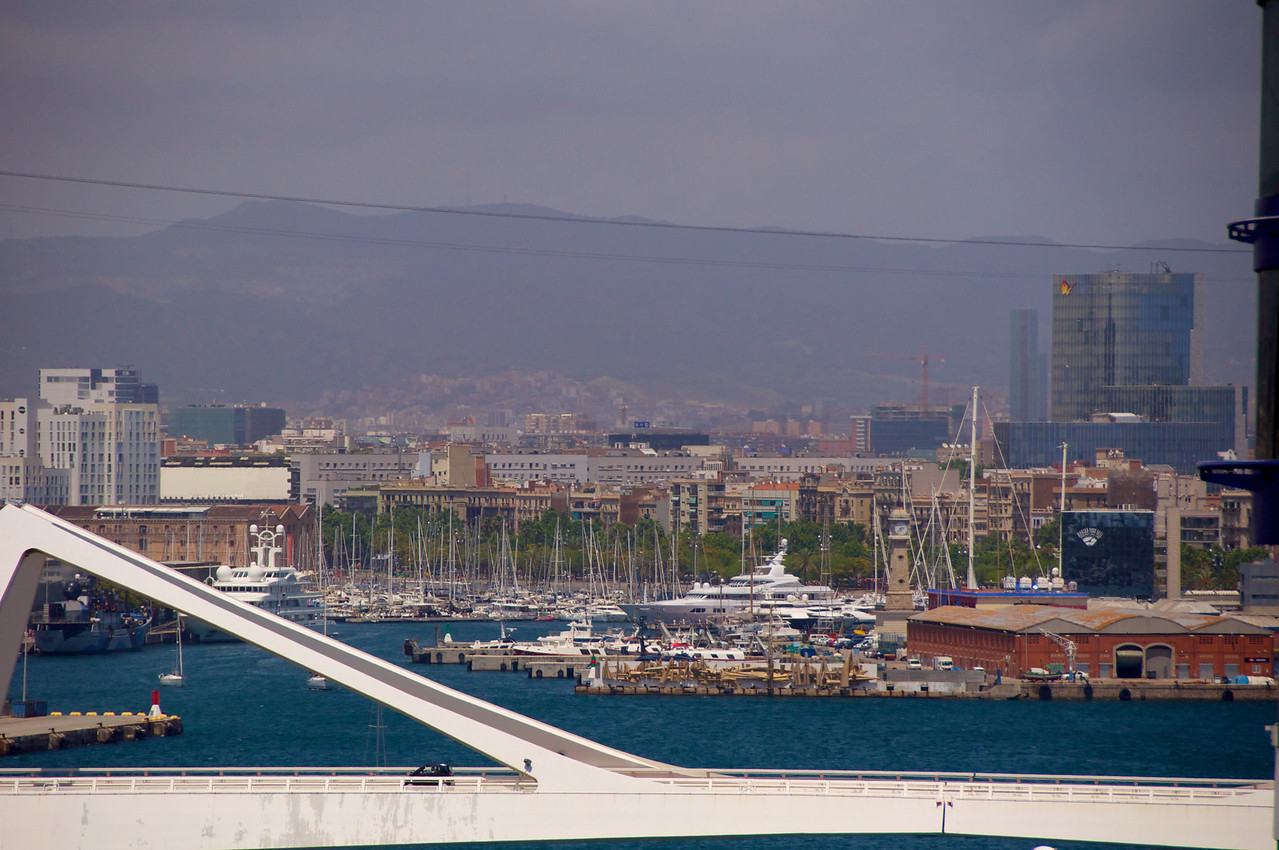 Barcelona Marina and Bridge to Ship's Pier