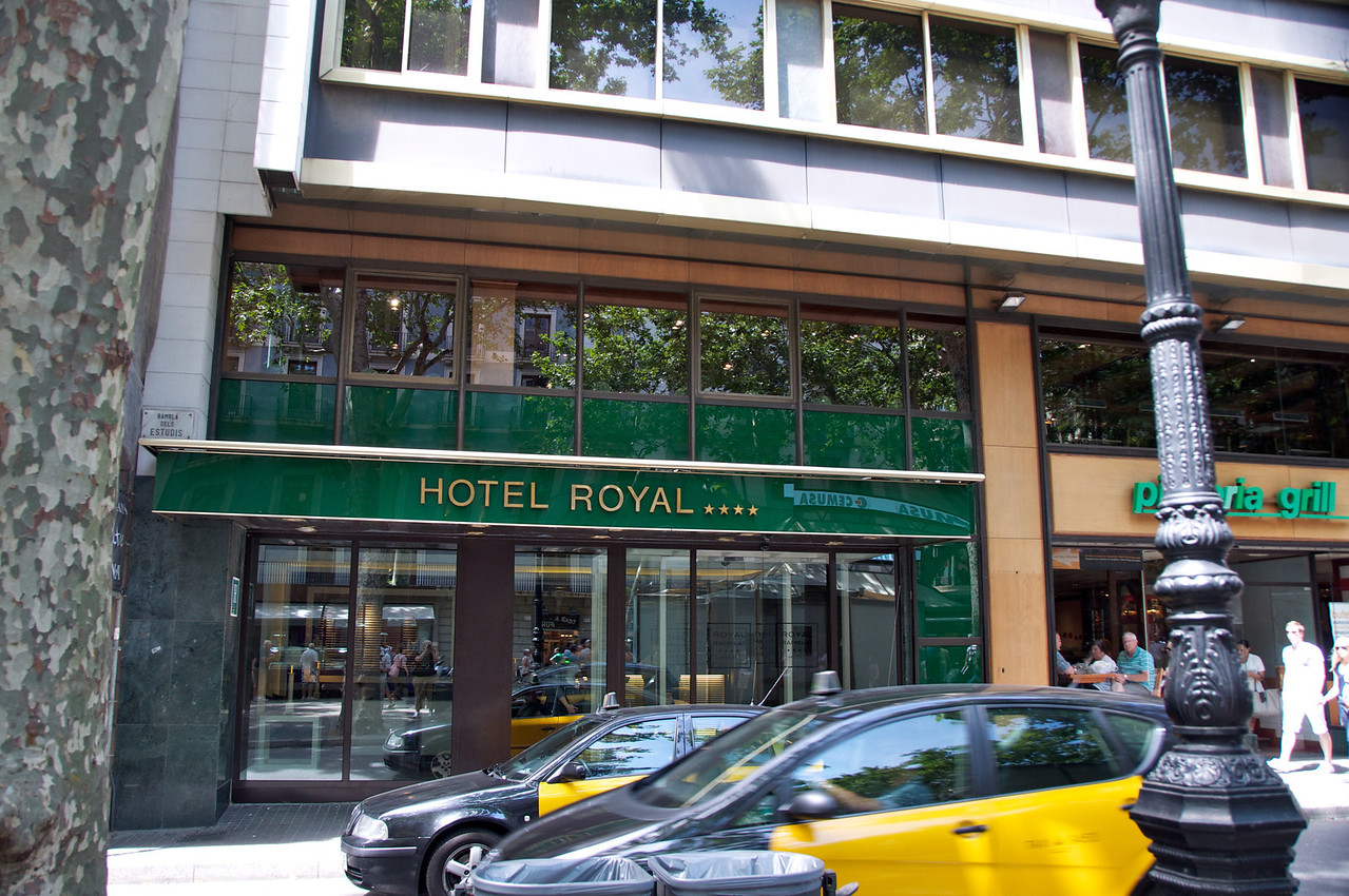 Our Hotel, Royal Ramblas    very modern European, very small (but clean) rooms