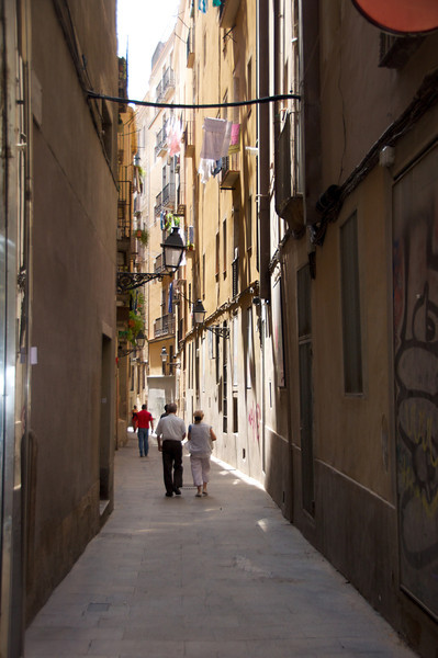 Typical Side Street in La Rambla Area