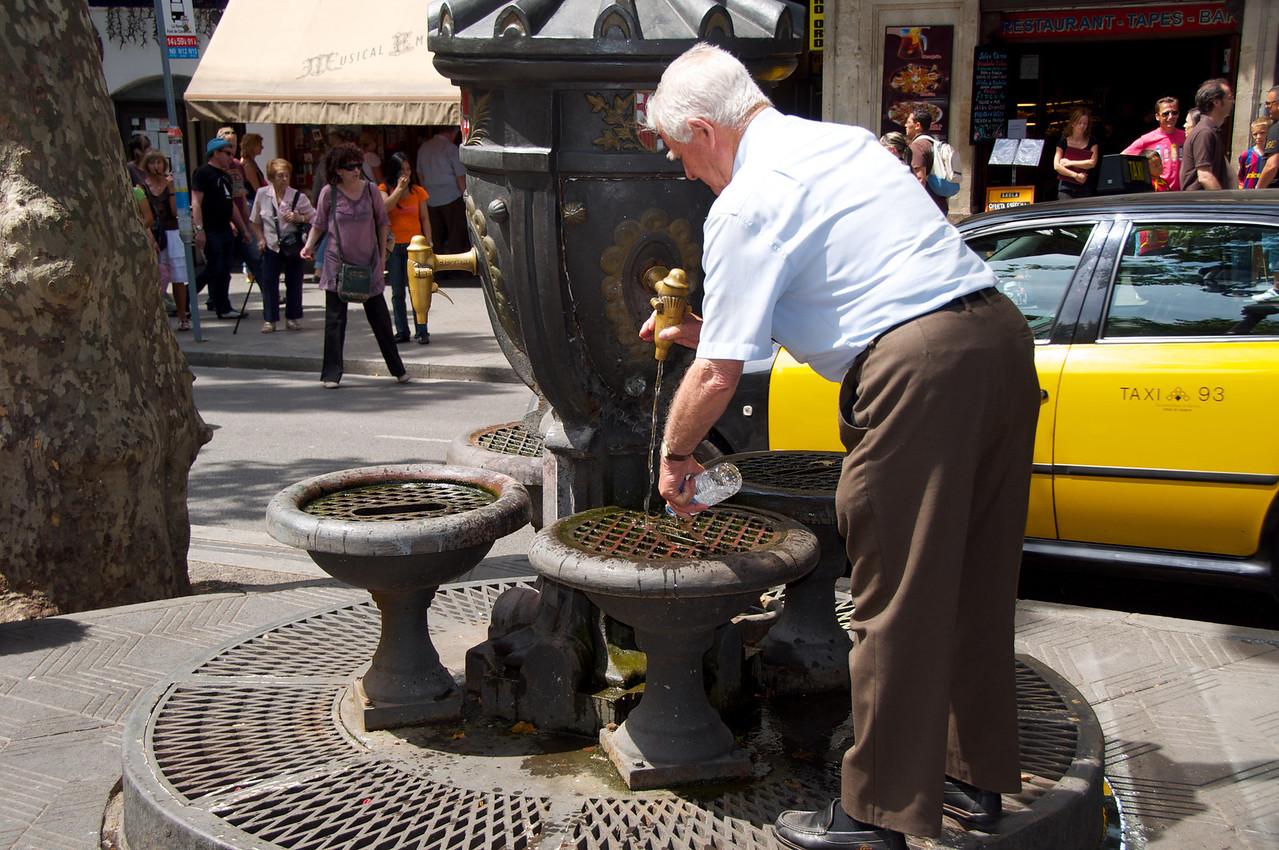 Local Using Public Water Fountain