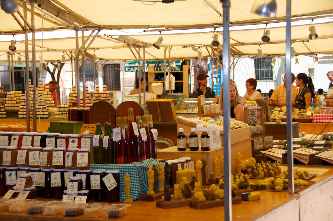 Local Market In A Square