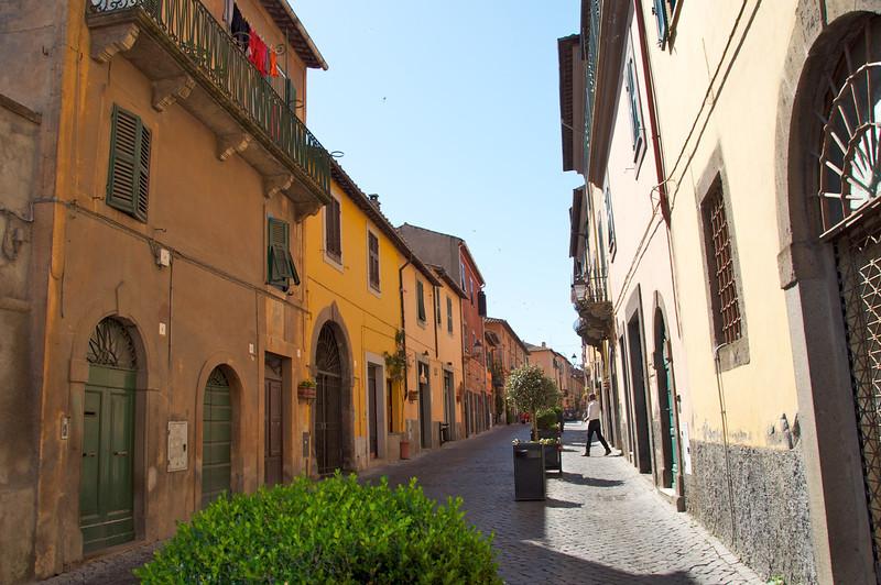Tuscania Main Street from Entrance