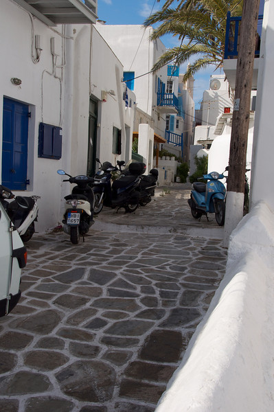 Scooters Popular in Mykonos Too