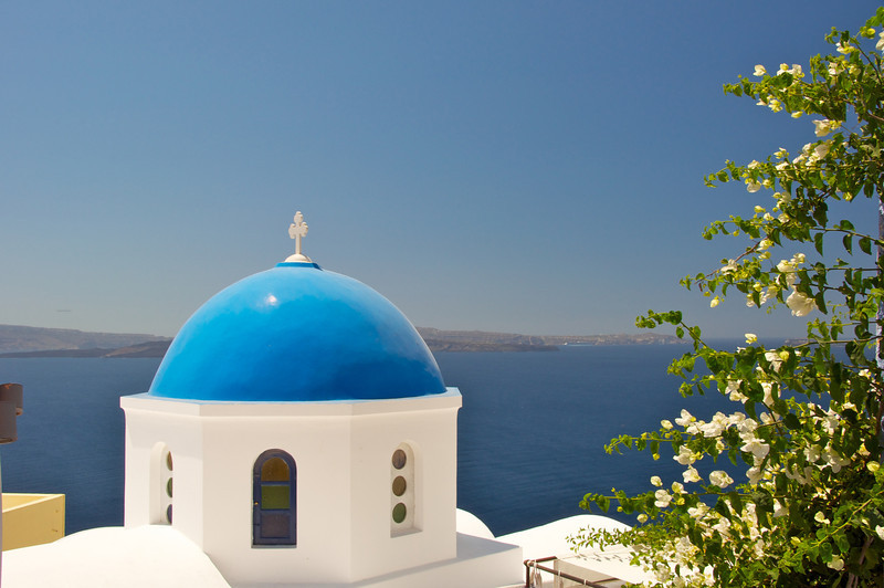 Blue Domes are Churches-Greek Orthodox Cathedrals