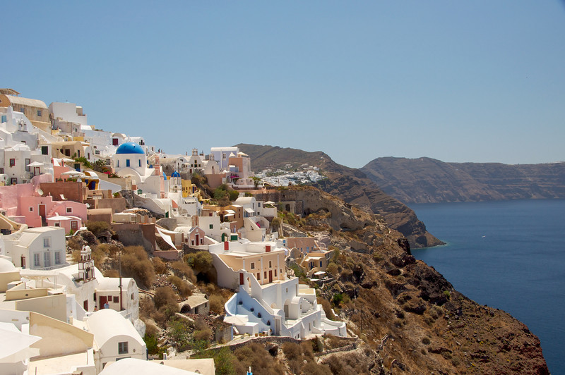 View of Slopes of Santorini