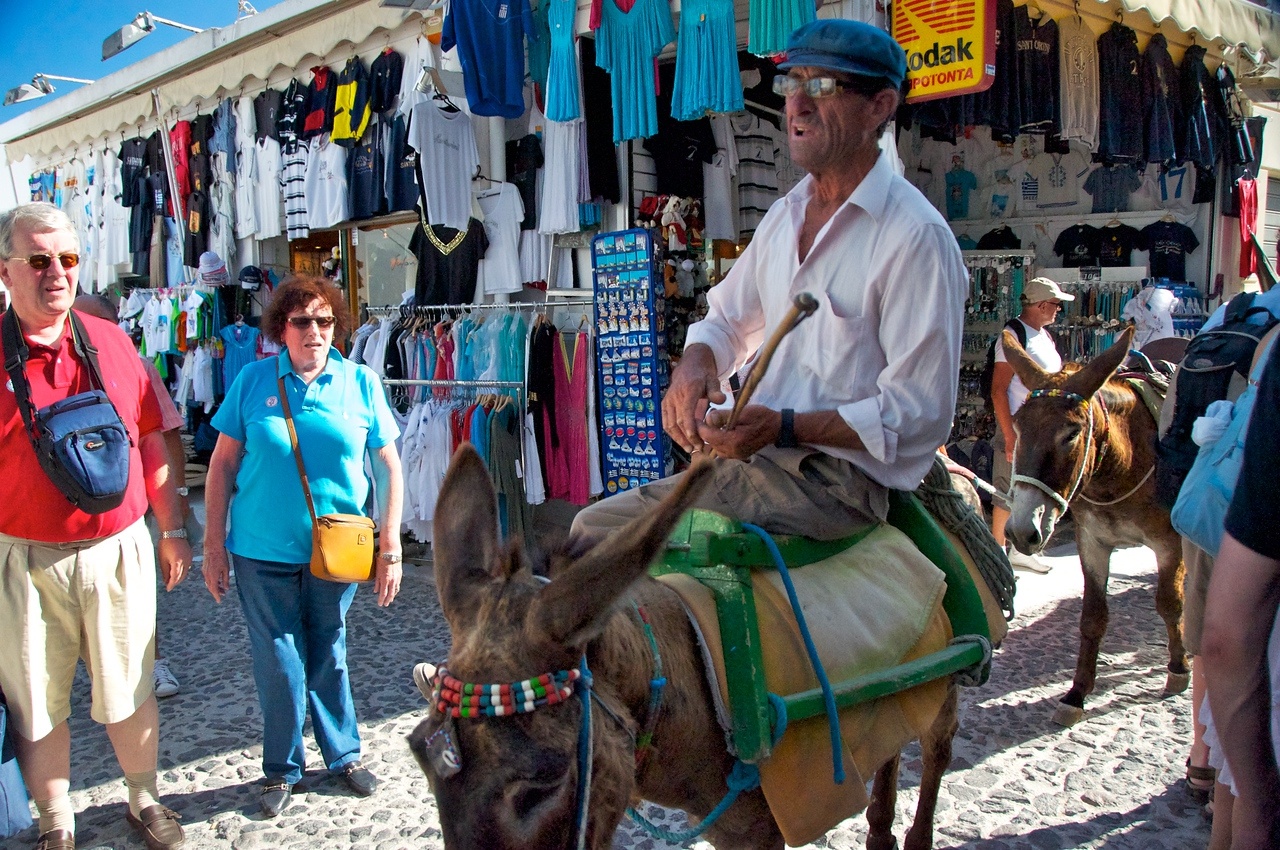 You Can Come Up-Down To Thira by Cable Care or Mule