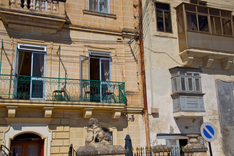 Example of The Various Kinds of Balconies   Wooden (Brown is New, Grey is Middle Ages), Stone and Iron (Iron Added Post WWII) and All Stone