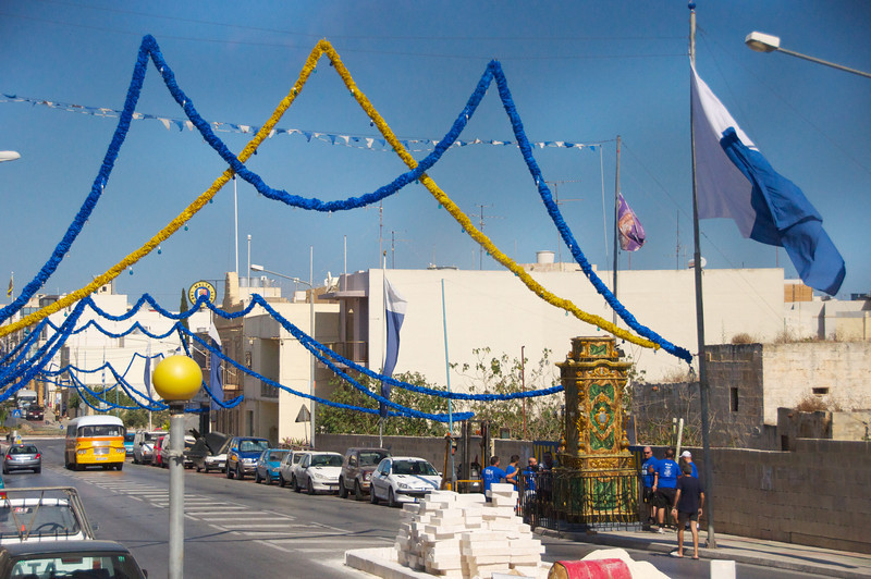Street Decorations for Feast of St  Peter and St  Paul