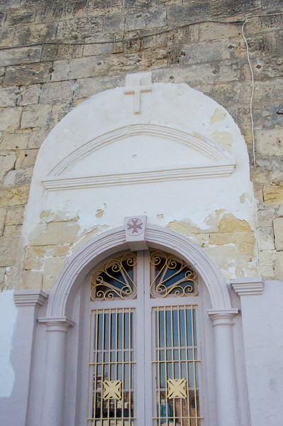 Doorway with Two Versions of Maltese Cross (Given to Malta by The Knight of St  John of Jerusalem)