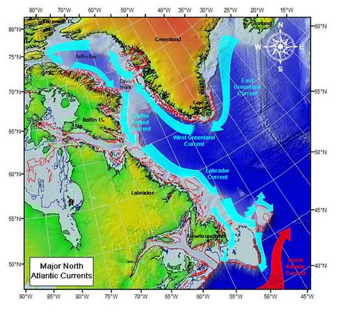 Major North Atlantic Currents