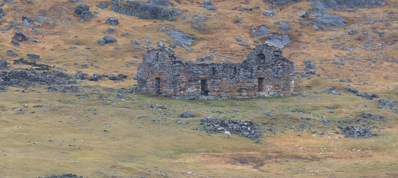 Viking ruins at Hvalsø, last used for wedding 1408