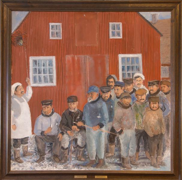 Nuuk Rådhus (city hall) local artist drew local people