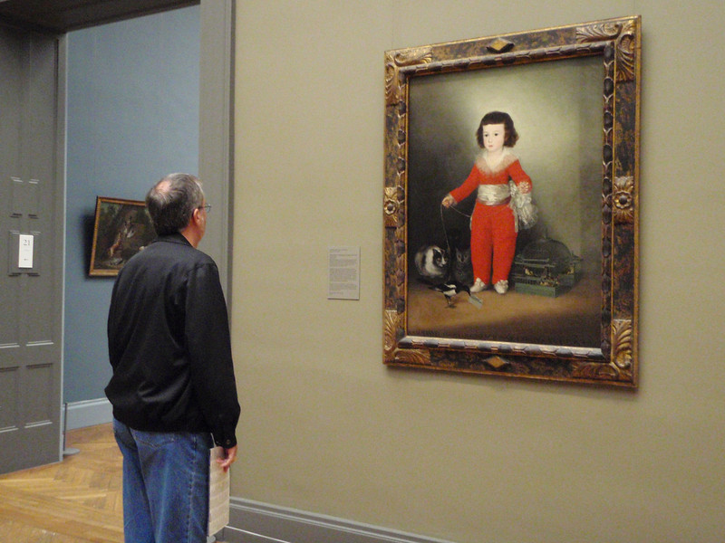 Kenny reads about a Goya portrait from approximately 1790.  Notice the cat in the lower left corner of the painting.