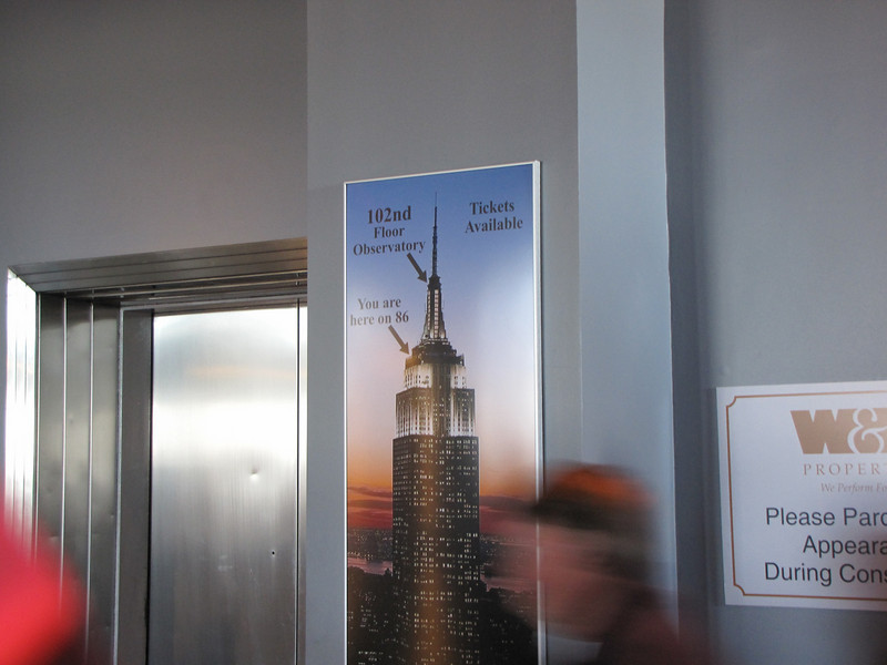 You had to pay extra to go up to the 102nd floor observatory.