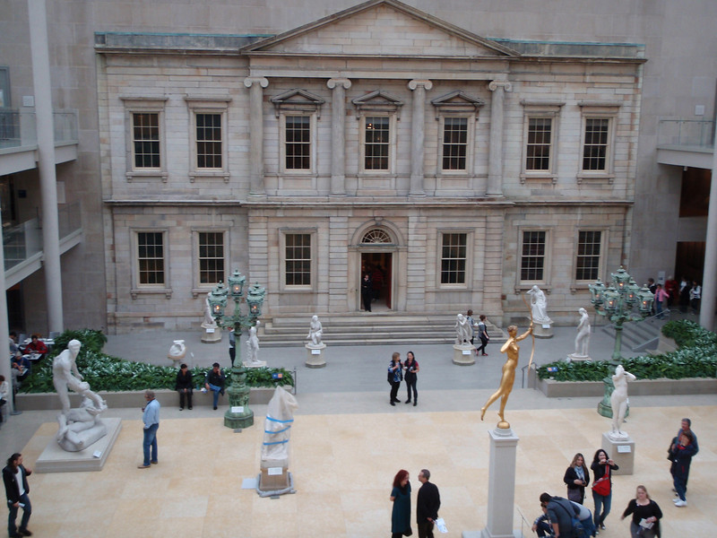 Over looking the Charles Englehard Court in the American Wing.  We had a quick lunch in the adjoining cafe before moving on to the European Paintings.