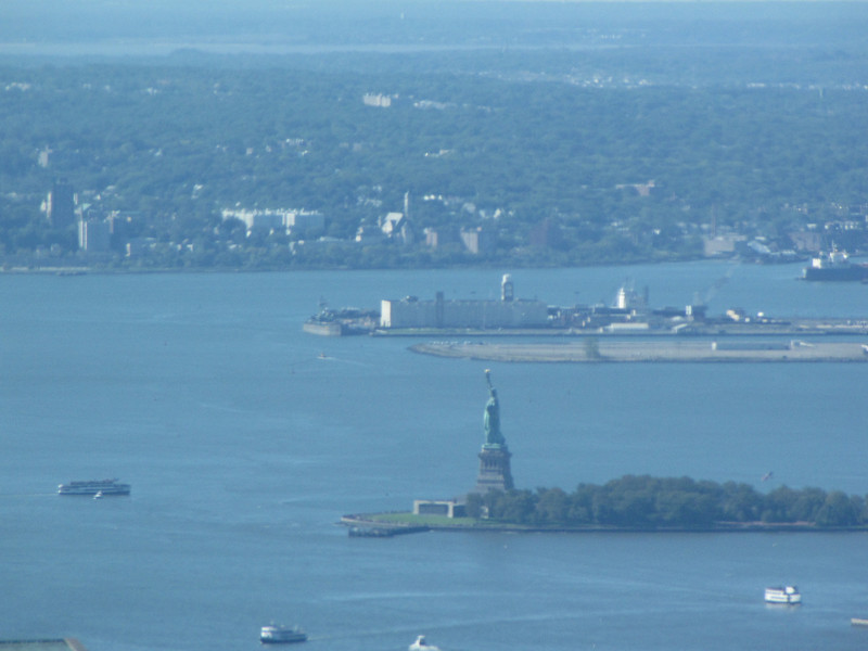 Lady Liberty as seen from the 102nd floor.