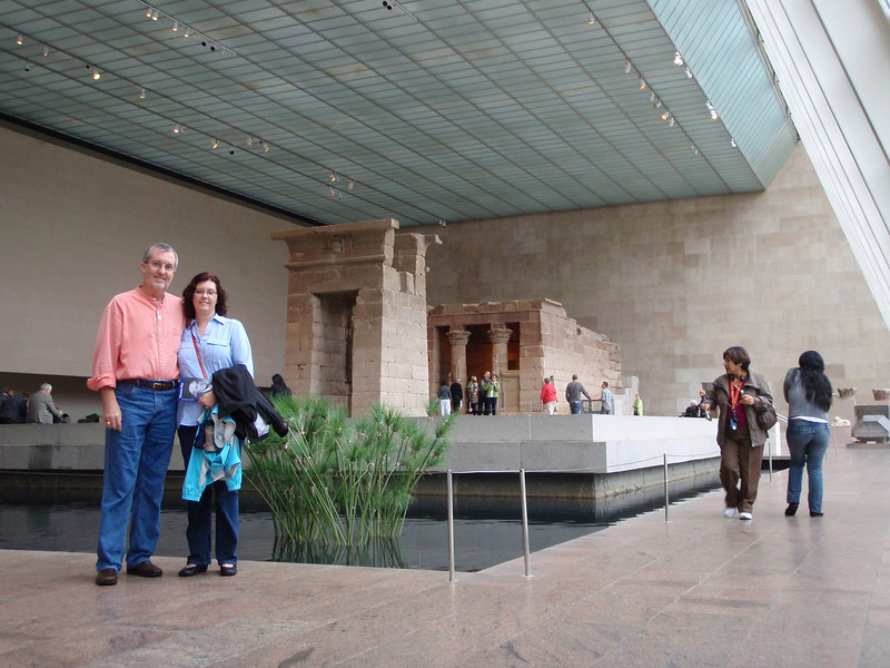 We paused at the Temple of Dendur, which dates from 15 BC, on the way to the American Wing.