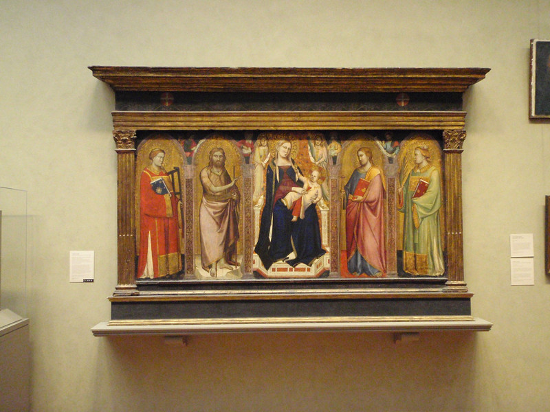 Taddeo Gaddi's alterpiece dates from 1340.