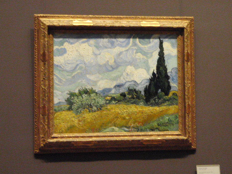 "Where we found Van Gogh's ""Wheat Fields with Cypress"" from 1889."