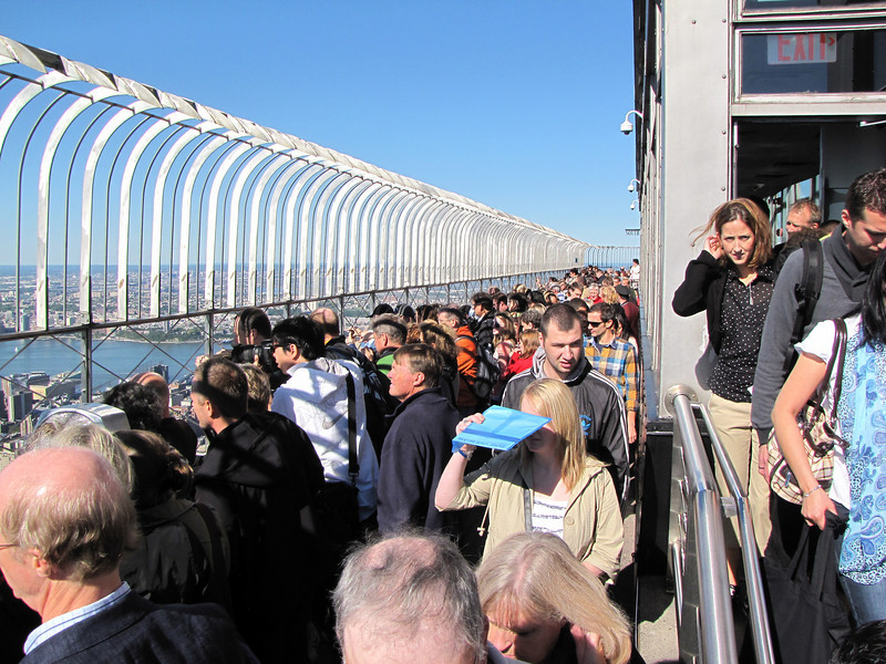 Saturday was the first clear day in a while and the observation deck was jam packed with people.