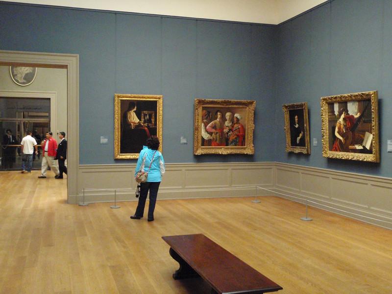 """Sheila admires La Tour's """"The Penitent Magdalen"""" ca 1643."""