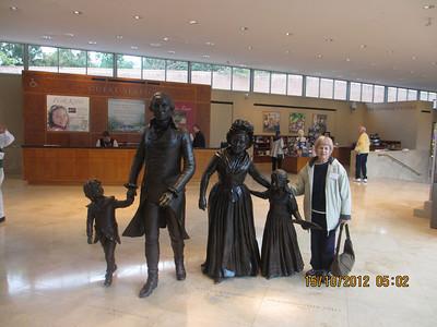 Joy with Washington's family