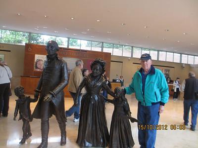 Jim with Washington's family